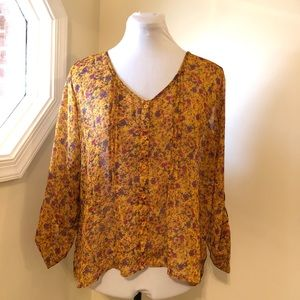Mossimo Floral Blouse Size XL
